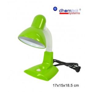 Lampada da tavolo colorata con braccio snodabile e paralume in alluminio