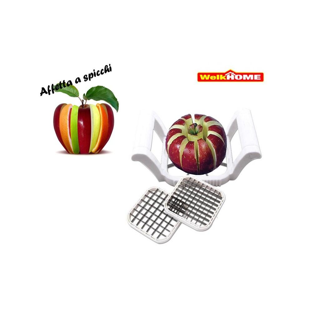 Taglia affetta mela a spicchi 3 in 1 per frutta e verdure 3 lame diversi tagli