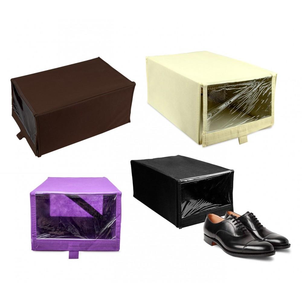 Box per scarpe TNT linea WELKHOME 112885 22,5x35x15,5 cm con finestra e velcro