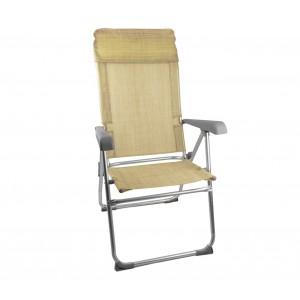Image of Sdraio pieghevole con braccioli ONSHORE 379721 schienale reclinabile alluminio 8435524531723