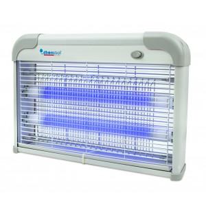 Image of Lampada anti insetti zanzare DHOMTECK con 2 Neon LED UV 2W 389249 con catena 8435524531914