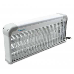 Image of Lampada anti insetti zanzare DHOMTECK con 2 Neon LED UV da 4W 392201 64x8x27 cm 8435524539958