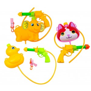 Pistola ad acqua SPLASH 369951 con serbatoio a forma di animale azione a pistone