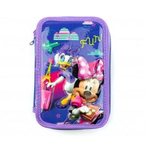 Image of Astuccio portapastelli 3 cerniere 43 pz 455593 scuola Disney MINNIE PAPERINA FUN 8435524540145