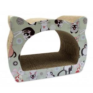 026494 Tiragraffi per gatti in cartone pressato e con stampe 39x29x22 cm