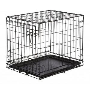 Gabbia per cani NOBLEZA 021055 in metallo nero 76x48x53 cm per trasporto