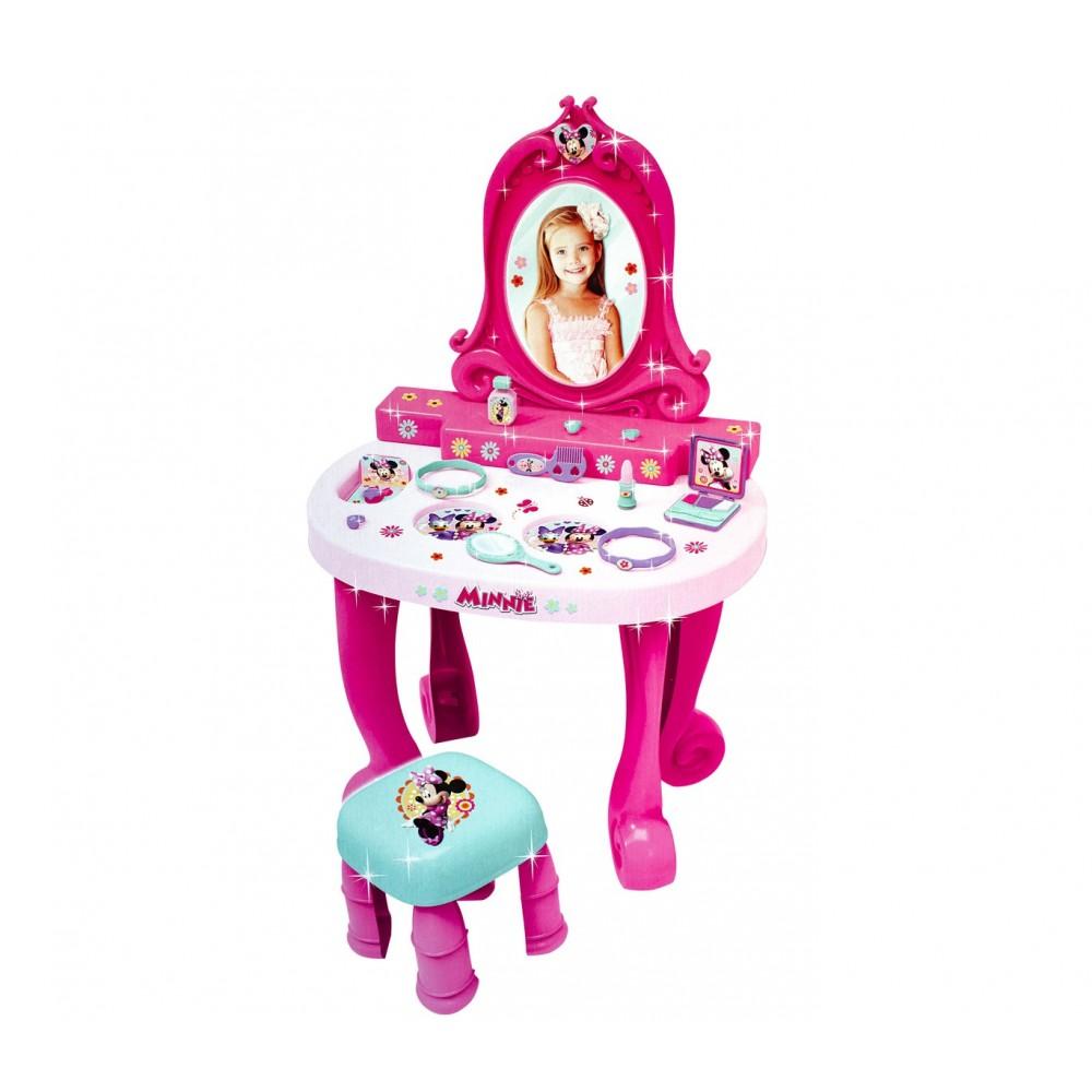 Specchiera con sgabello 084441 Disney Minnie vanity studio con 12 accessori 78cm