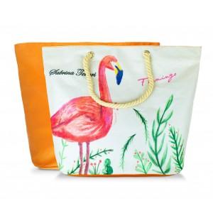 Borsa mare Sabrina Tenori 427124 Flamingo con doppio manico in utah