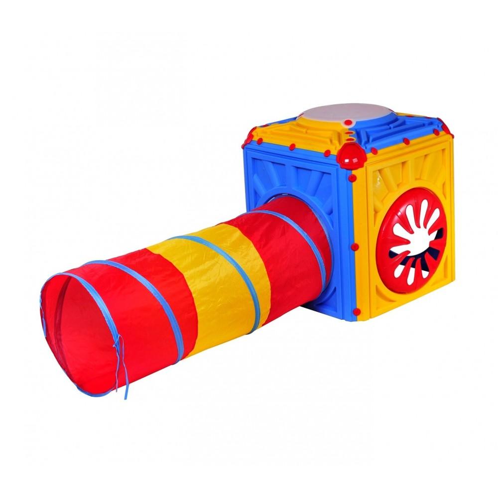 Cubo attività in plastica STARPLAY 402238 tunnel 190 cm coordinazione motoria