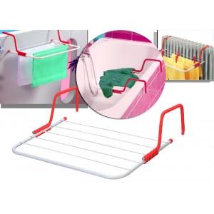 Stendibiancheria con agganci universali stendino termosifone finestre  stendino 6 barre  LIFETIME CLEAN
