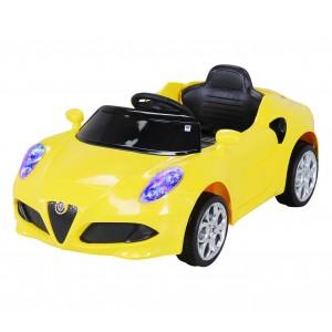 Auto bambini elettrica ALFA ROMEO 4C Gialla cabrio GVC-525 con radiocomando