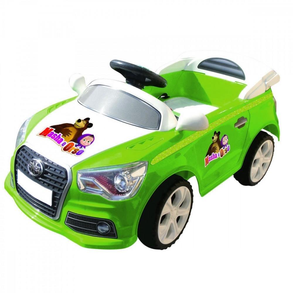 Auto bambini elettrica MASHA e ORSO 6V GVC-7209 con luci effetto LED MP3