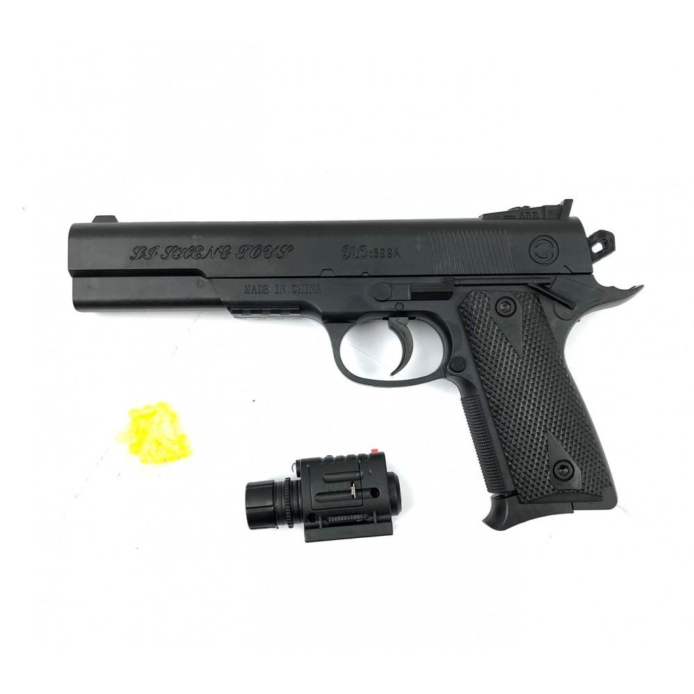 Pistola giocattolo 397233 con puntatore 6 mm con pallini inclusi 45 Magnum