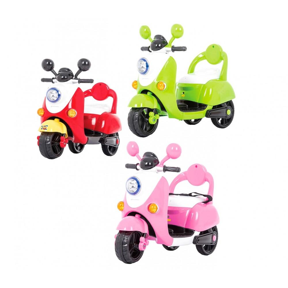 SCOOTER 6V 3 ruote per bambini GV-52 con luci suoni e cintura di sicurezza