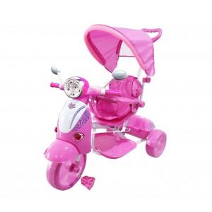 Triciclo SCOOTER CLASSIC con pedali GVC-51 con suoni, luci, tettuccio