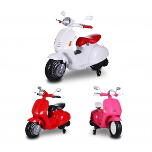 Scooter elettrico LT849 per bambini PRIMAVERA 12V sedile in pelle