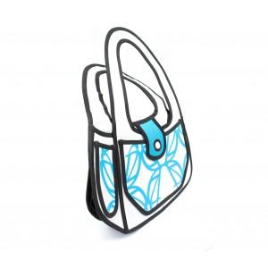 Borsa con tracolla 3d cartoon moda design fumetto azzurra