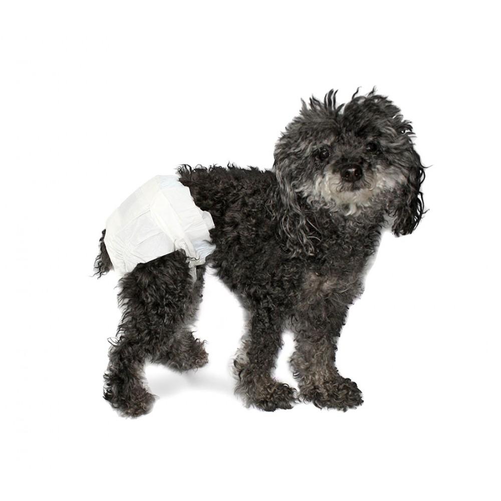 Pack 12 pannolini assorbenti cani NOBLEZA cattura odori elastici e fessura coda