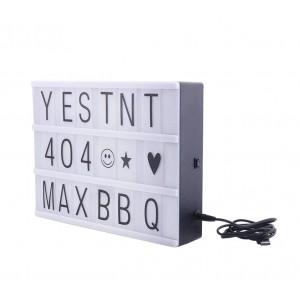 Lavagna Led LightBox retroilluminato 181774 con 96 caratteri formato A4 30x23 cm