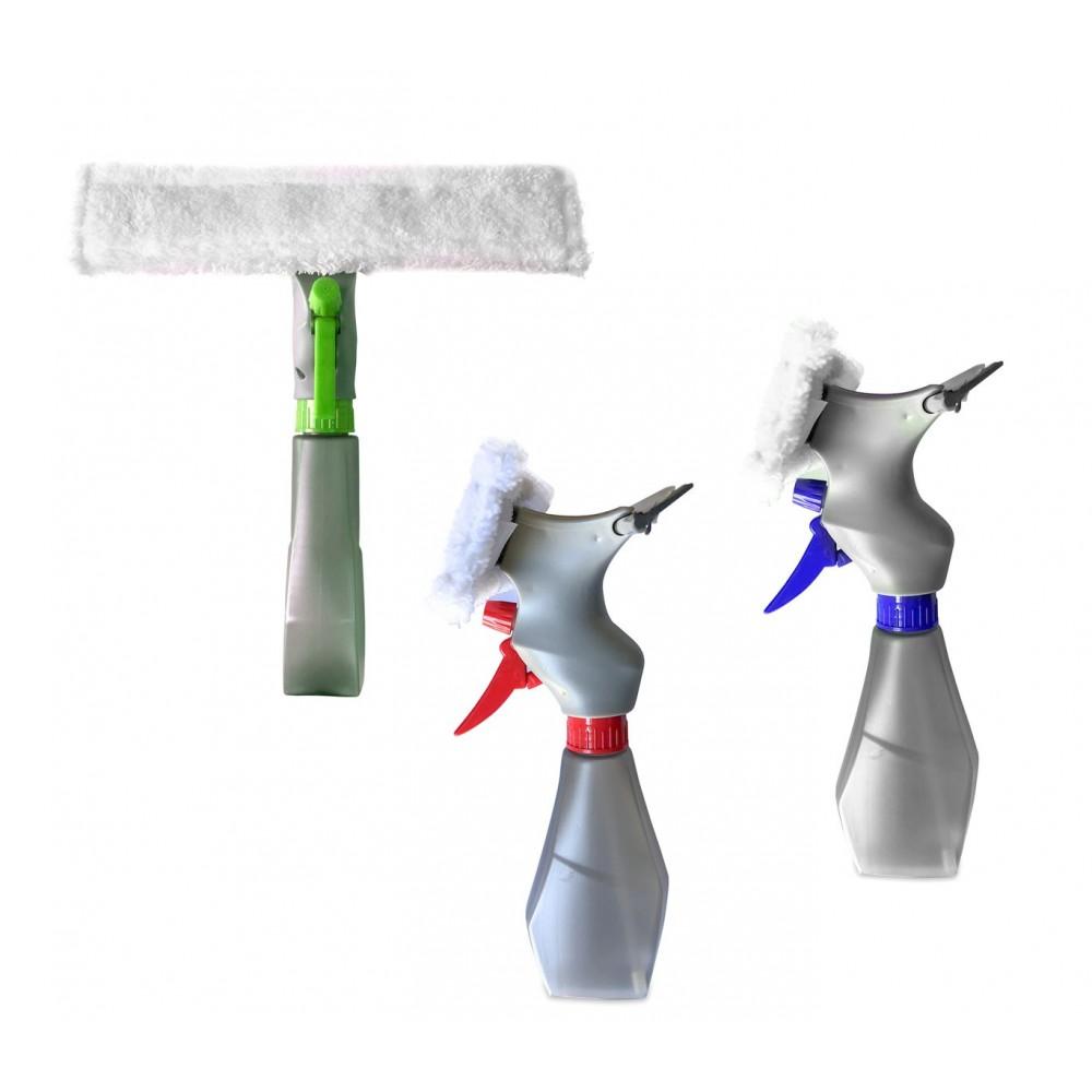 Spazzola lavavetri 3 in 1 tira acqua spray 435618 Spruzza lava e asciuga