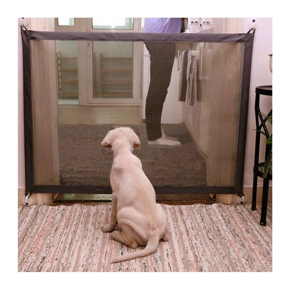 Barriera per cani semirigida per interni ed esterni 182788 aggancio a muro