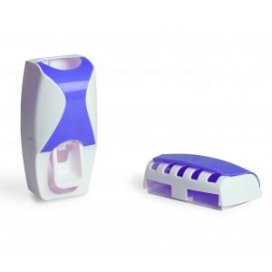 Image of Dispenser SHUAI automatico 178545 custodia spazzolini e dentifricio a ventosa 8435524542026