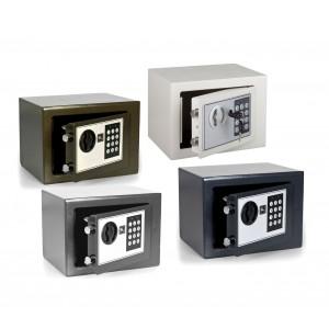 Cassaforte elettronica a batterie con combinazione numerica e doppia chiave