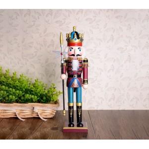 831010 Soldato LANCIA schiaccianoci in legno dipinto a mano da arredamento