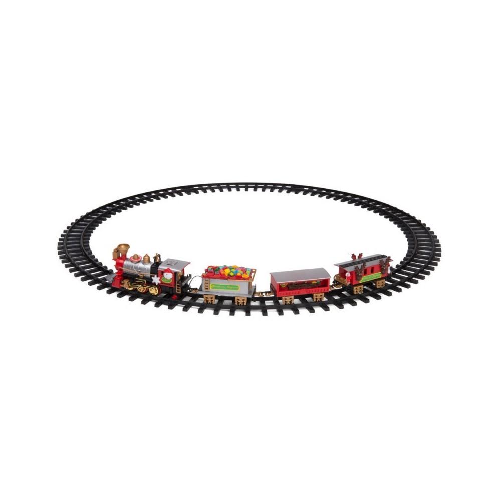 Trenino Natalizio a batterie 830082 sotto-albero con luci suoni diametro 75 cm
