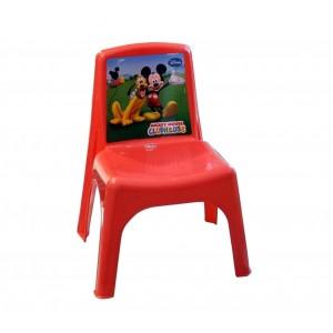 Sedia Bildo colorata per bambini in plastica resistente Mickey Mouse 43x26x24cm
