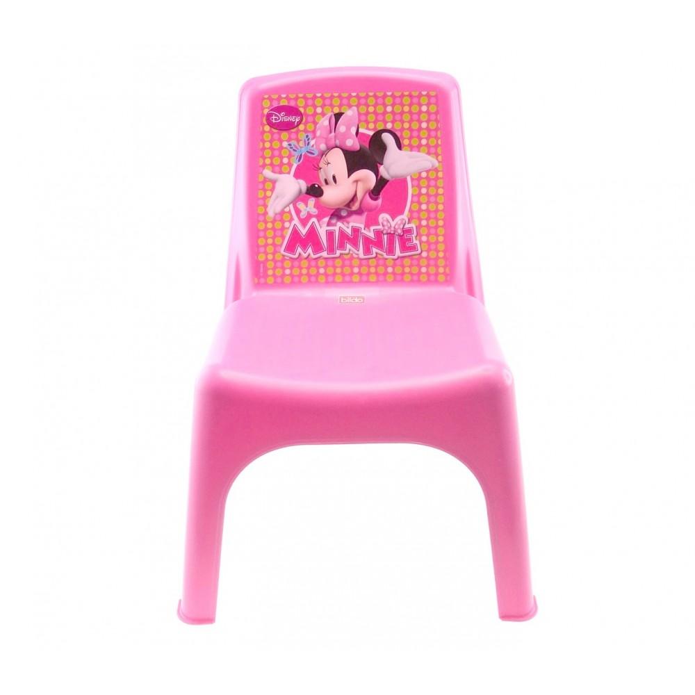 Sedia Bildo colorata per bambini in plastica 084106 Minnie 43x26x24 cm