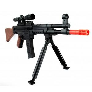 Fucile di precisione a pallini 434017 BB 6mm con cavalletto e mirino CIGIOKI