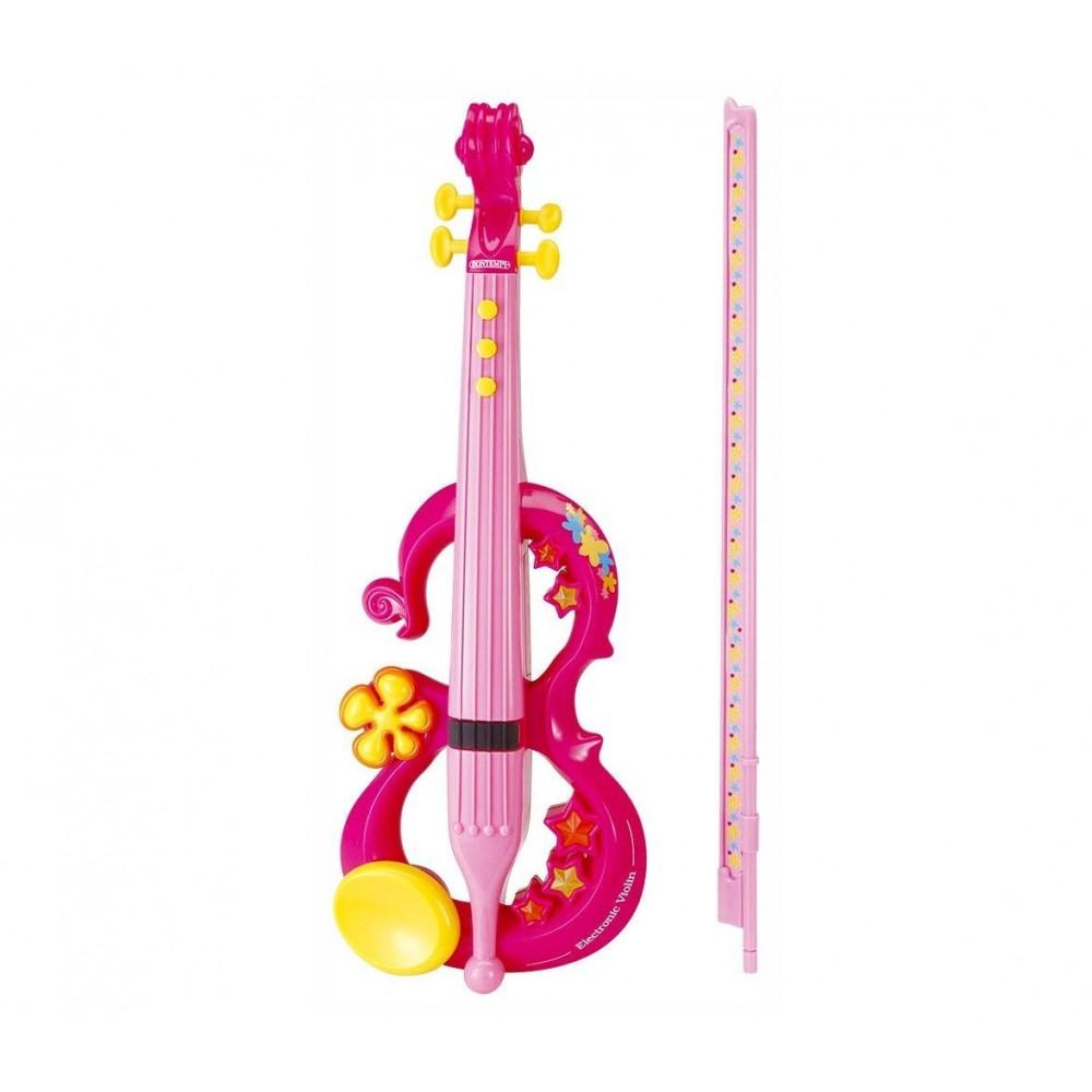 Bontempi VE 4371 - Violino Elettronico, Rosa con archetto e melodie integrate