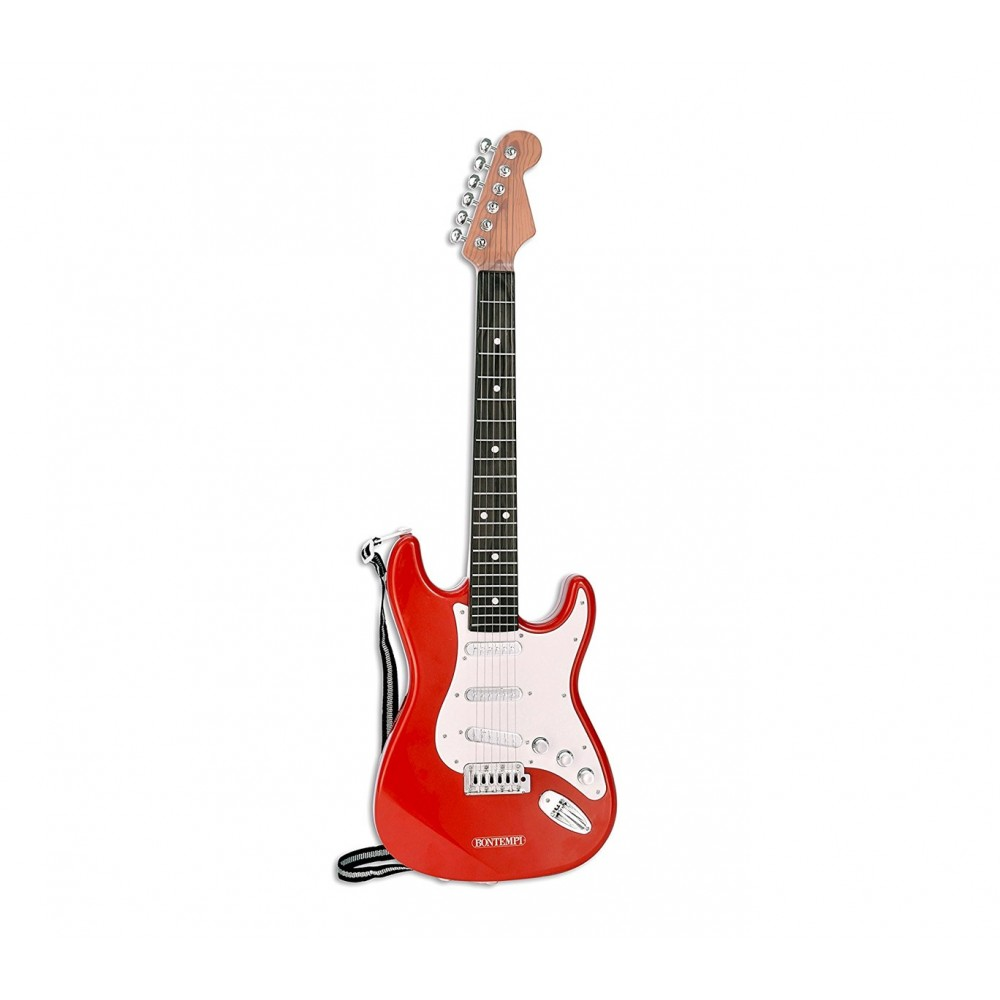 BONTEMPI 241300 - Chitarra Rock Elettrica con 6 Corde in Metallo e Tracolla