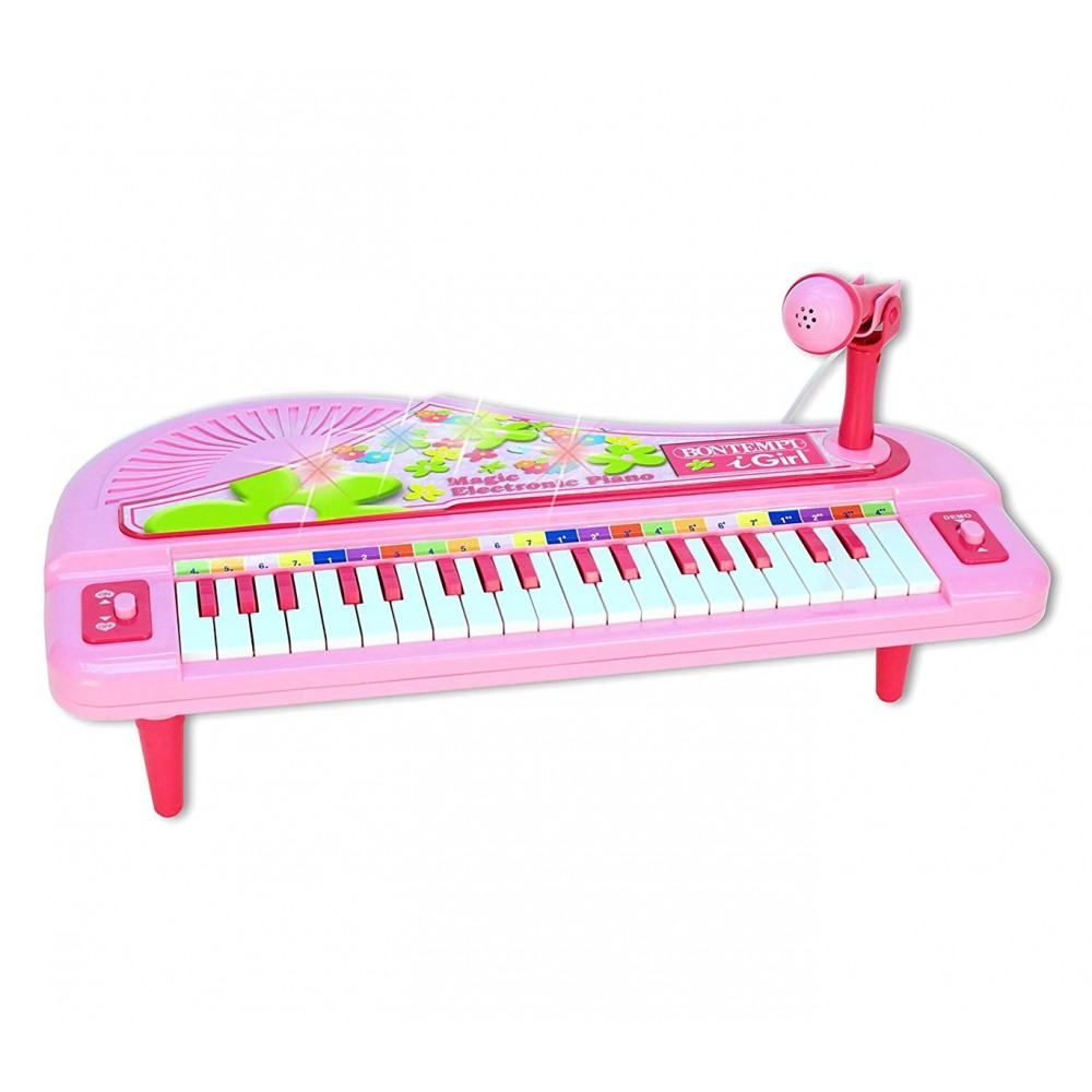 Bontempi iGirl 102071 Pianoforte Elettrico da Tavolo 37 Tasti microfono brani