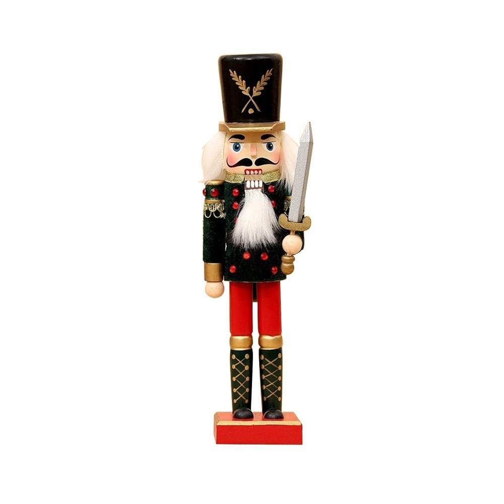 Soldato SPADA 831027 schiaccianoci in legno 30 cm dipinto a mano da arredamento