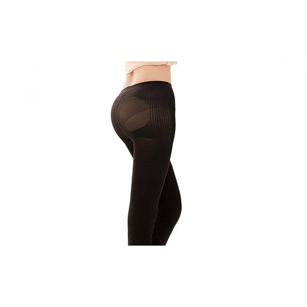 Leggings snellente contenitivo microfibra modellante con rinforzi silhouette