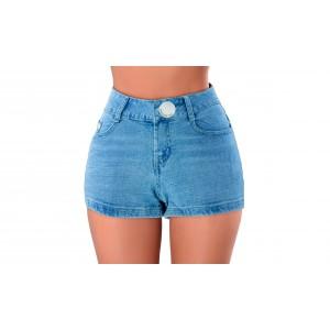 Shorts corto da donna in jeans FORBIDDEN ZONE pantaloncino aderente