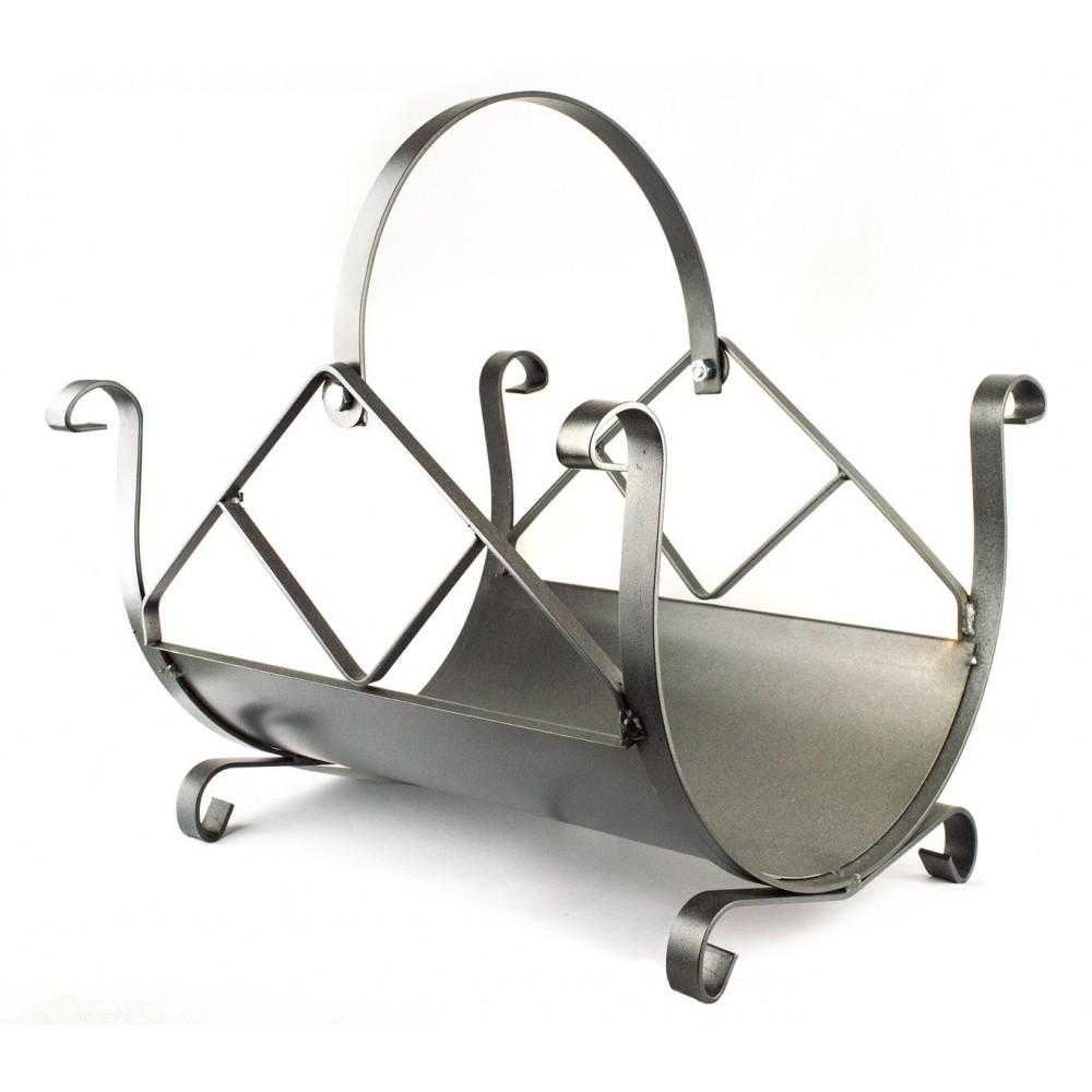 Portalegna in ferro PRAGA Artigianferro art 604 manico regolabile 40x33x49 cm
