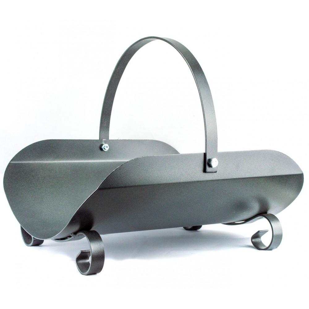Portalegna in ferro battuto VIENNA Artigianferro art 607 con manico 40x36x35 cm