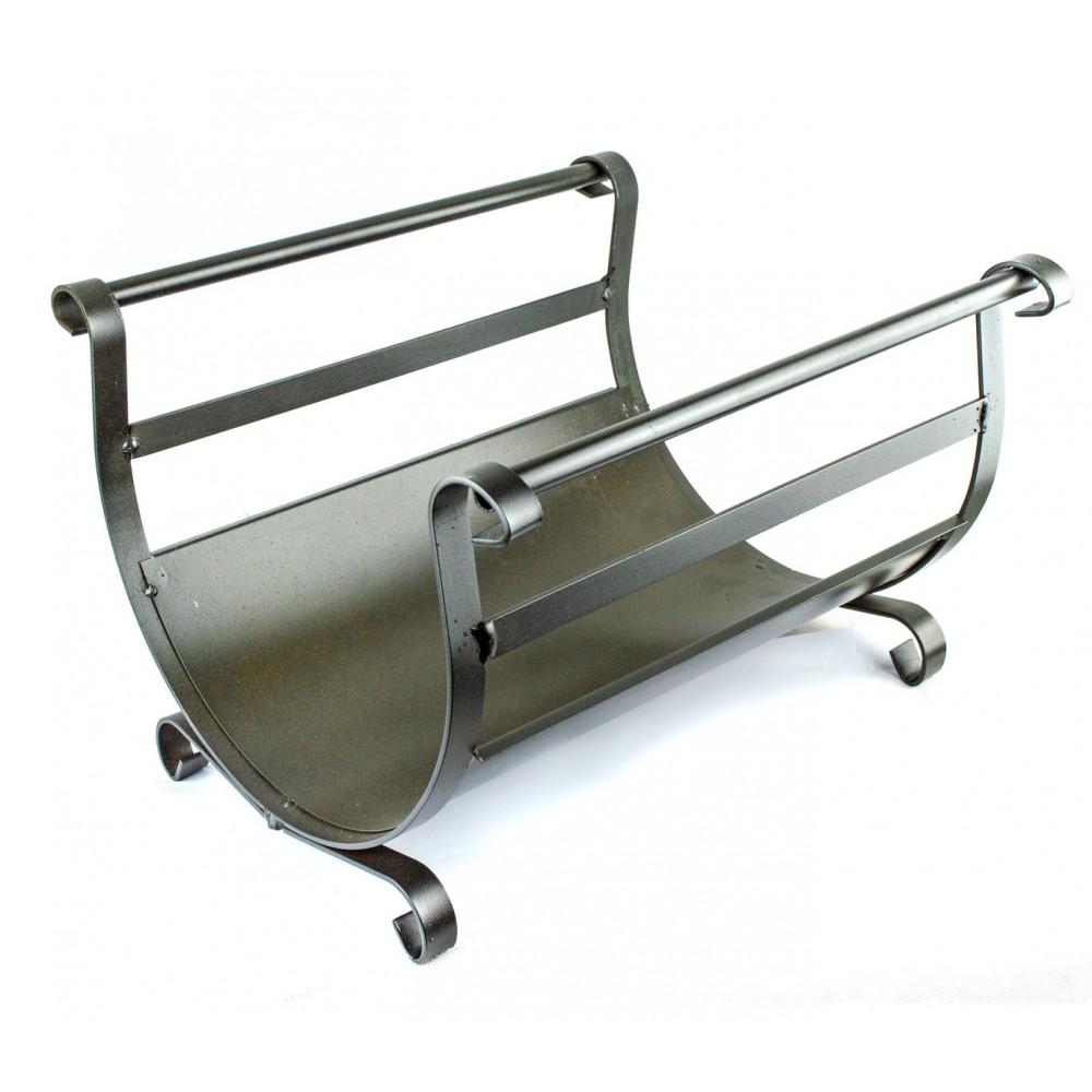 Portalegna ferro battuto BUDAPEST Artigianferro art 603 aste laterali 40x35x29cm