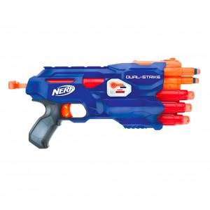 945459 NERF GUN Dual Strike 3x 3x con selettore per dardi grandi e piccoli