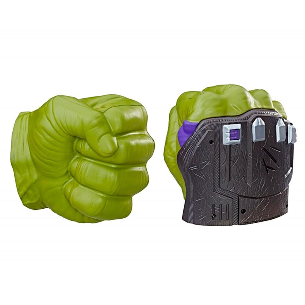 366682 Marvel Hulk Pugni Elettronici in Gomma con azioni e suoni preregistrati