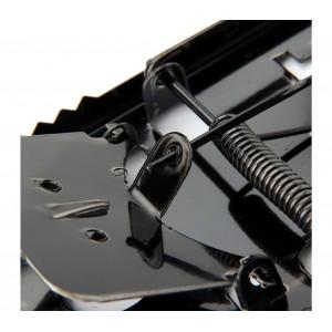Trappola in metallo per topi con ghigliottina a scatto con molla 8.5x16x1 cm
