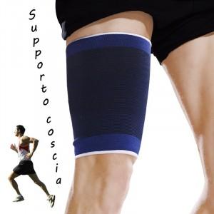 Coppia di 2 fasce elastiche per COSCIA unisex supporto tutore gamba sport