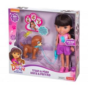CGT65 Dora bambola parlante, con il suo cane addestra e gioca suona e canta