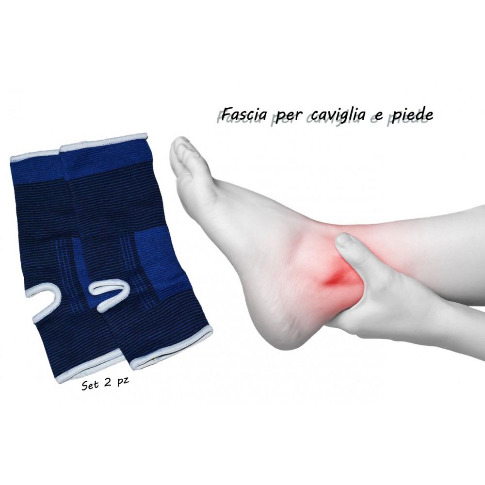 Coppia di 2 fasce elastiche CAVIGLIE e PIEDI ideale per sovraccarico articolare