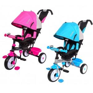Triciclo a spinta SPRINT con pedali e cappottina T60141 e porta oggetti