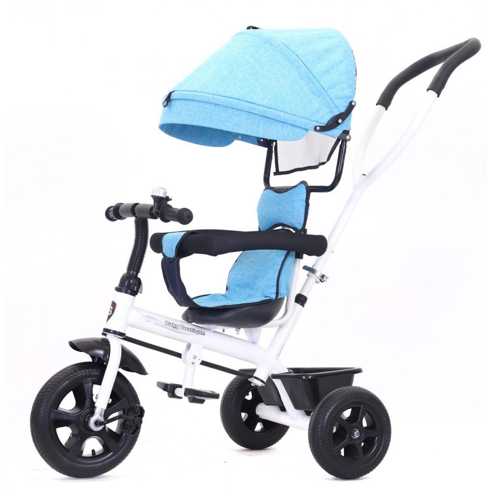 Triciclo a spinta HANDY GO con pedali e cappottina B37312 con protezioni