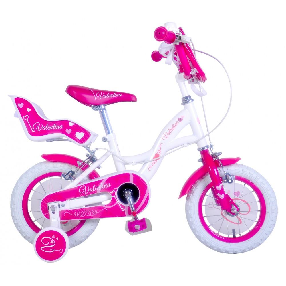 Bicicletta bambina misura 14 VALENTINA telaio acciaio a sfera età 3 - 6 anni